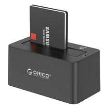 "High-speed ORICO USB 3.0 2.5"" 3.5"" SATA HDD Hard Drive Docking Station Black US"
