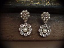 Butler & Wilson Pearl Round Costume Earrings