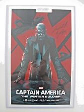 Captain America: The Winter Soldier movie poster SIGNED by Samuel L. Jackson!