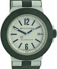 Bvlgari bulgari aluminio reloj pulsera caballero al44 ta, 44mm de 2006 box + papeles