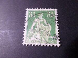 Switzerland, Schweiz, 1907-17, Stamp 122, round Postmark, Helvetia, VF Used Aa