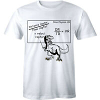 Mens Velociraptor Tshirt Cute Funny Dinosaur Velocity Physics Math Formula Tee