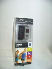 New Sealed Naxa Life Force Fitness Watch 2 Bands Gray & Black - iPhone & Android