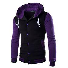 Men's Winter Hoodie Outwear Sweater Warm Coat Baseball Jacket Hooded Sweatshirt