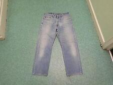 "LEVI'S 505 Regular Straight Jeans Taille 34"" Jambe 30"" Délavé Bleu Moyen Jean Homme"