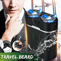 Men's Portable Electric Shaver Beard Trimmer Razor Cordless Rotary USB