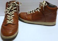 Nike Dunk Hi Premium Medium Curry Net Dark Brown Sz 13 #305808 Wheat Leather