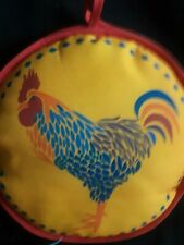 Bright & Colorful Rooster Print Tortilla Warmer w/Printed Recipe on Back