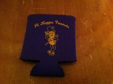 Beer cozy Pi Kappa Fraternity Peanuts Mr. Peanut Coozie Cooler Purple Foam Rare