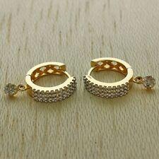 9ct Yellow Gold 0.86ct Diamond Huggie Hoops Earrings RRP £1250 (JJ37)