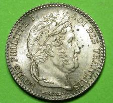 FRANCE LOUIS-PHILIPPE Ier 1/4 FRANCS 1831A SUPERBE
