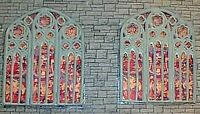 Large Church Windows stained glass Parts F131 UNPAINTED OO Scale Models Kit