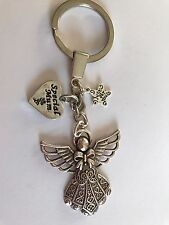 GUARDIAN ANGEL WITH SPECIAL MUM CHARM,  KEY RING   BAG CHARM GIFT PRESENT
