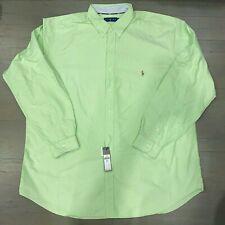 Polo Ralph Lauren Men's Button Down Shirt Size 3XLT Green $98 L/S NWT Oxford