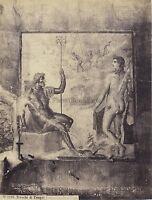 Quadro Da Pompei Foto Rive Italia Vintage Albumina Ca 1870