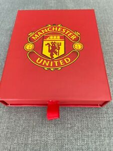 Manchester United FC Football Gift Wallet Black with Red Box