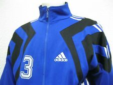 Vintage 90' Ancienne VESTE ADIDAS PORTÉE FOOTBALL ? RUGBY ? #3 CARREFOUR Maillot