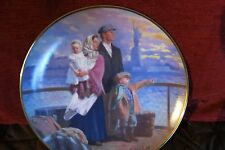 Ellis Island Plate, Gateway to America, Franklin Mint, Max Ginsburg, Numbered.