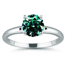 3.34ct VVS1.NATURAL BLUE GREEN REAL MOISSANITE DIAMOND  BLACK 925 SILVER RING