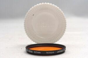@ Ship in 24 Hrs! @ Excellent! @ Nikon O56 Orange 52mm Black Rim Lens Filter