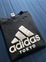 Adidas Men's T Shirt Tee Black White Tokyo Exclusive Rare Size Medium Crewneck