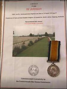 British War Medal Northamptonshire Regiment Casualty