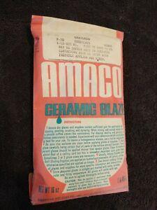 Amaco Ceramic Glaze Powder 16 oz Gloss Leadless Lead Free F-30 Chocolate