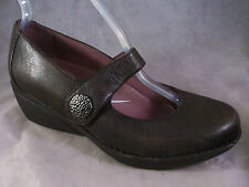 NEW DANSKO WOMEN'S ADELLE HOOK & LOOP MARY JANE BROWN LEATHER 39 9 MEDIUM $150