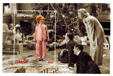 """Shirley Temple """"The Stowaway"""" S/S of 1 Stamp - Liberia"""