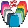 Wholesale School Drawstring Book Bag Backpack Kids Sport Pe Swim Gymsack Colours