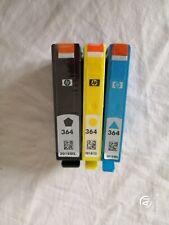 HP 364 CARTUCCE ORIGINALI HP = SET DI 3 COLORI ORIGINALI HP = CYANO+YELLOW+BLACK
