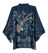Women Kimono Japanese Yukata Flower Coat Outerwear Chiffon Vintage Loose Top New