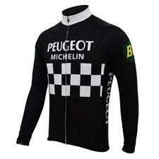 Vintage Peugeot Michelin BP Long Sleeve Retro Cycling Jersey Bike Bicycle