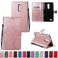 Flip Leather Wallet Patterned Case Cover For ZTE Z MAX Pro / Carry Z981 / AXON 7