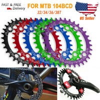 104BCD MTB Round Oval Narrow Wide Chainring 32/34/36/38T Bike Chainwheel Bicycle