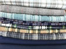 Large Lot Of Vintage Fabric Plaid Flannel Over 10 Pounds