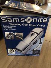 New! Open Box Samsonite 683 Wheeling Golf Bag/Club Travel Cover Rolls Wheels Nib