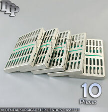 10 DENTAL SURGICAL STERILIZATION CASSETTE RACKS BOX FOR 10 INSTRUMENTS