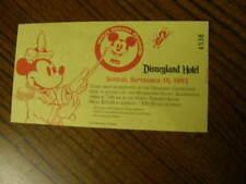 1309) Official Disneyana Convention 1993 Disneyland Hotel Admission Ticket Stub