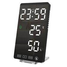Temps Numérique Alarme Horloge Pièce Double Alimentation Humidité LED Night