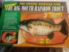 vintage Jsny the Big Mouth Rainbow Trout Animated Singing Fish Plaque year 2000