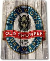 Old Thumper Ale Beer Brewery Bar Pub Rustic Sign Beer Decor Sign