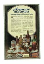Vintage 1919 Armour Household Beverage Coffee Juice Milk Iced Tea Cocoa Ad Print
