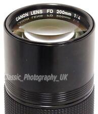 Canon Lens FD 200mm 1:4 - Manual Focus Lens for Canon F-1 CANON A-1 Canon AE-1