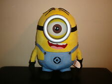 "Despicable Me 2 Talking Minion Stuart 16"" Eye Light Up Sings Go to Sleep Lullaby"