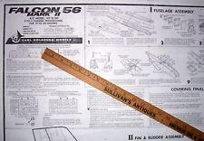 "Carl Goldberg FALCON 56 MK II PLANS to Scratch-Build a 56"" RC Model Airplane"