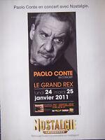 PUBLICITÉ DE PRESSE 2011 PAOLO CONTE EN CONCERT AVEC NOSTALGIE - ADVERTISING