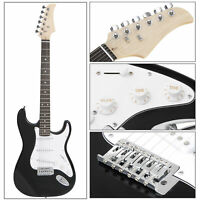 Full Size 39Inches Electric Guitar +10 Watt AMP,Strap,Cord+Case for Beginners