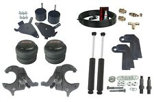 Front Weld On Air Ride Suspension Kit Spindles Shock Relocate For 1982 2005 S10