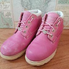 Timberland Waterproof Ladies Girls Chukka Ankle Boots UK 4/3.5 Pink Alt Cute
